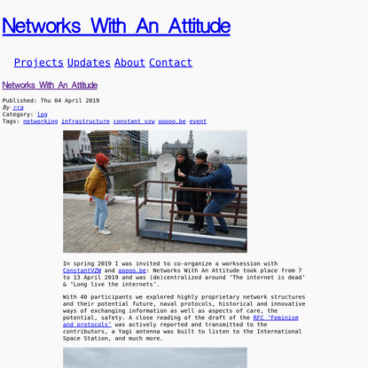 Networks With An Attitude