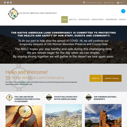 NALC | The Native American Land Conservancy