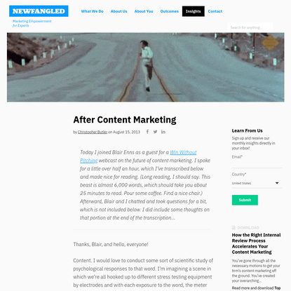 Chris Butler on the Future of Content Marketing