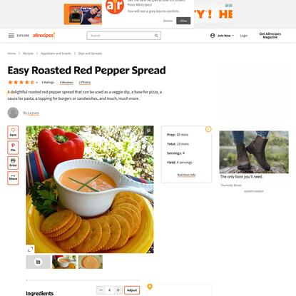 Easy Roasted Red Pepper Spread Recipe - Allrecipes.com