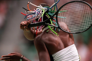 1998  Venus Williams playing her 1st Australian Open