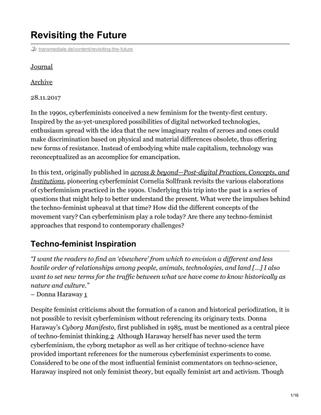 Cornelia Sollfrank, Transmediale Revisiting the Future
