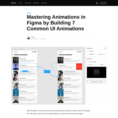 Mastering Animations in Figma by Building 7 Common UI Animations