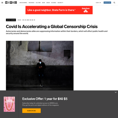 Covid Is Accelerating a Global Censorship Crisis
