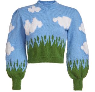 Hand-Knitted Cloud Sweater by Lirika Matoshi