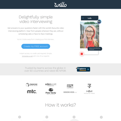 Free Video Interviewing Software from Willo®