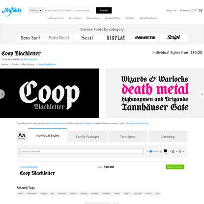 Coop Blackletter Font | Webfont & Desktop | MyFonts