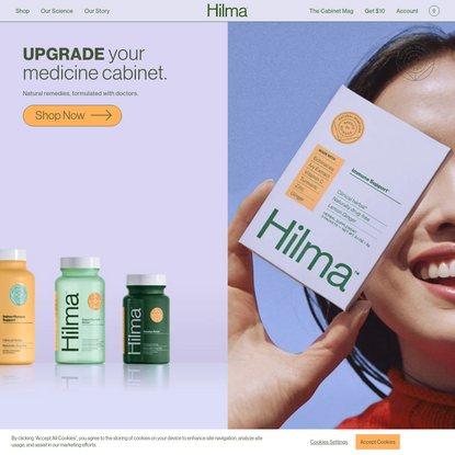 Hilma -- Natural Remedies, Backed By Science