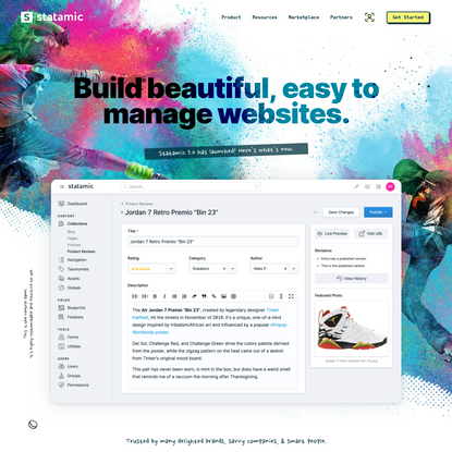 Build beautiful, easy to manage websites.