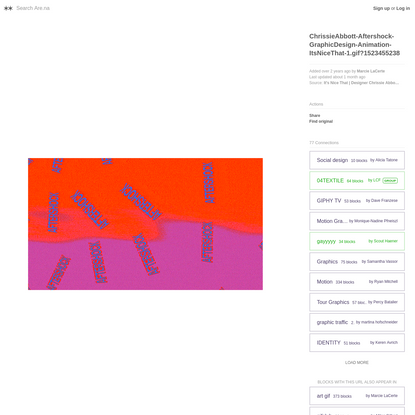 ChrissieAbbott-Aftershock-GraphicDesign-Animation-ItsNiceThat-1.gif?1523455238 - Are.na
