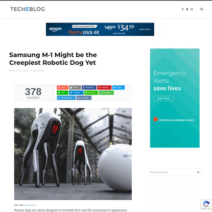Samsung M-1 Might be the Creepiest Robotic Dog Yet