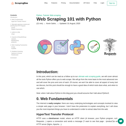 Web Scraping 101 with Python
