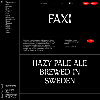 Faxi — Good Type Foundry