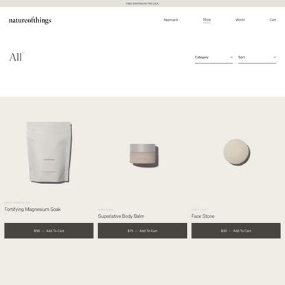 Products – natureofthings