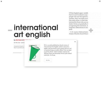 Triple Canopy – International Art English by Alix Rule & David Levine