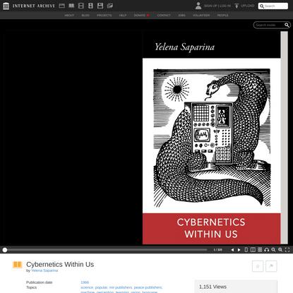 Cybernetics Within Us : Yelena Saparina : Free Download, Borrow, and Streaming : Internet Archive