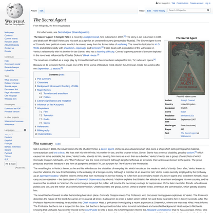 The Secret Agent - Wikipedia