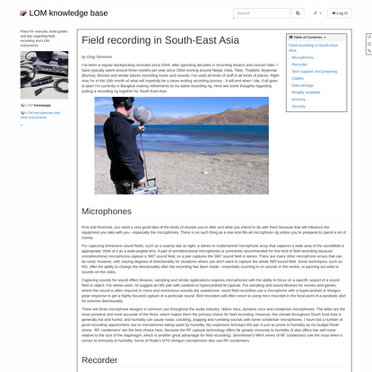 LOM knowledge base: research:field_recording_in_south_east_asia