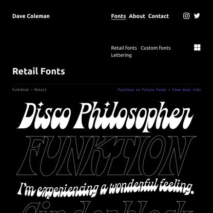 Fonts — Dave Coleman