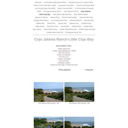 Cojo Jalama Ranch-Little Cojo Bay