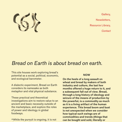 Bread on Earth