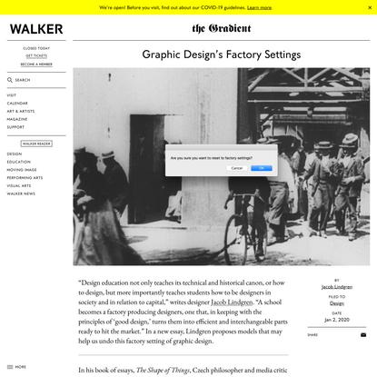 Jacob Lindgren: Graphic Design's Factory Settings