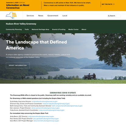 Hudson River Valley Greenway Home Page