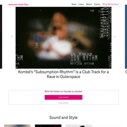 Telekom Electronic Beats - The Sound and Style of Beat-Driven Culture