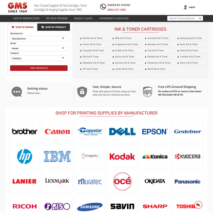 OEM Copier, Fax and Printer Supplies, Inkjet Toner | GM Supplies | GM Supplies