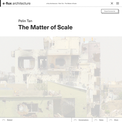 The Matter of Scale