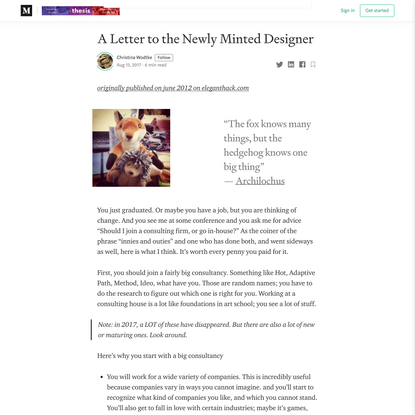 A Letter to the Newly Minted Designer