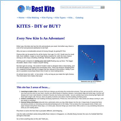 Kites - Home-Made Or Bought. Fantastic Fun!