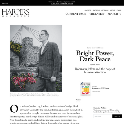 Bright Power, Dark Peace | Harper's Magazine