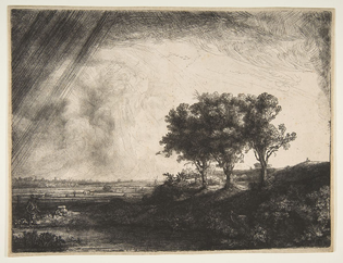 Rembrandt, The Three Trees (1643)