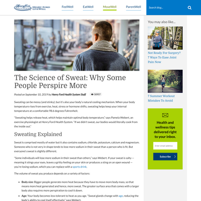 The Science of Sweat: Why Some People Perspire More