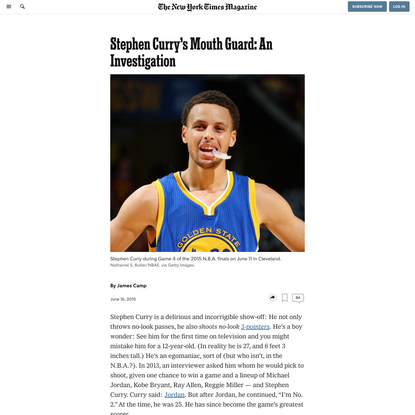 Stephen Curry's Mouth Guard: An Investigation