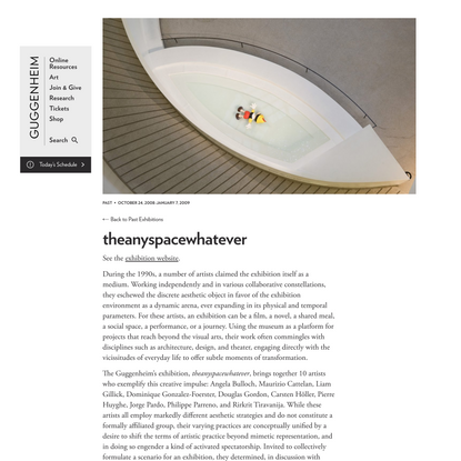 theanyspacewhatever   The Guggenheim Museums and Foundation