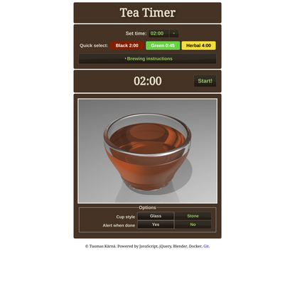 Online Tea Timer