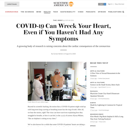 COVID-19 Can Wreck Your Heart, Even if You Haven't Had Any Symptoms