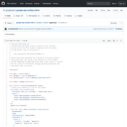 googleapis/google-api-nodejs-client