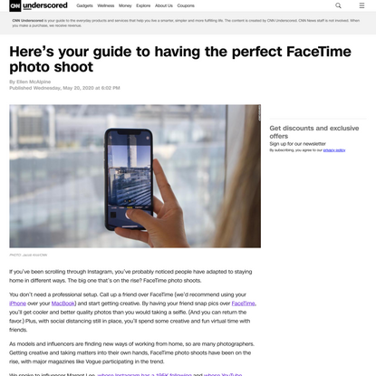 Learn how to create the perfect FaceTime photo shoot