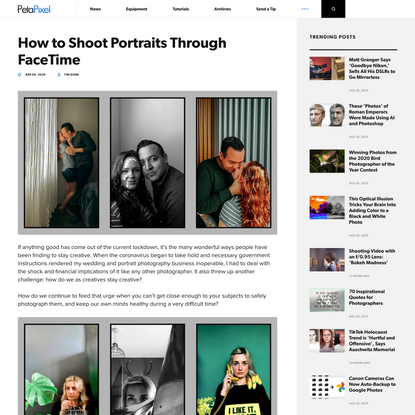How to Shoot Portraits Through FaceTime