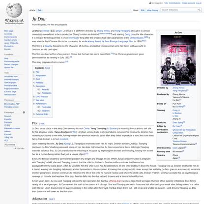 Ju Dou - Wikipedia