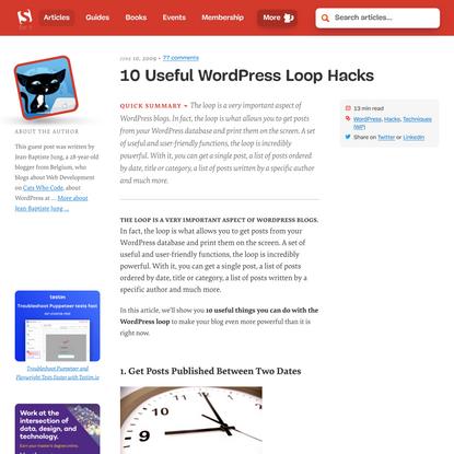 10 Useful WordPress Loop Hacks — Smashing Magazine