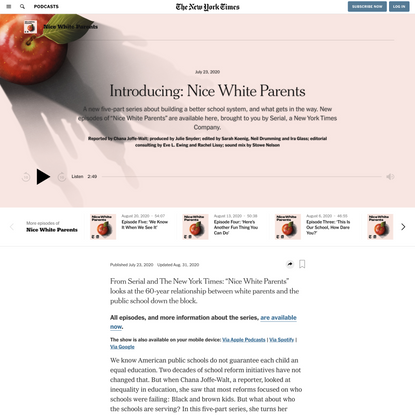 Nice White Parents - The New York Times