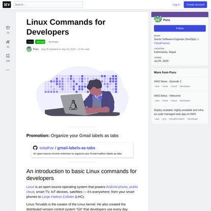 Linux Commands for Developers