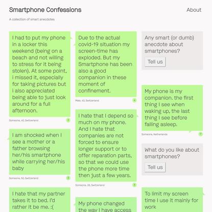 Smartphone Confessions