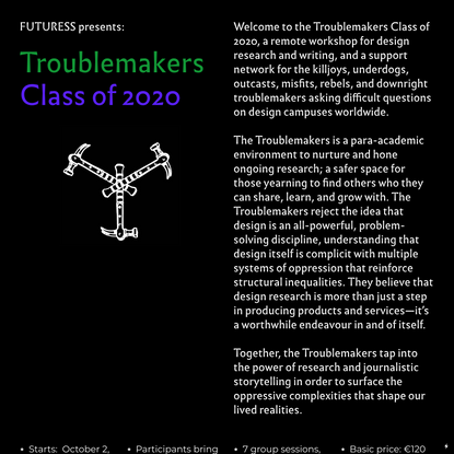Futuress presents The Troublemakers — Class of 2020