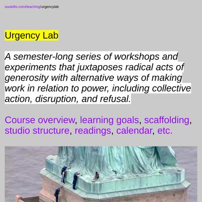 soulellis.com/teaching/urgencylab