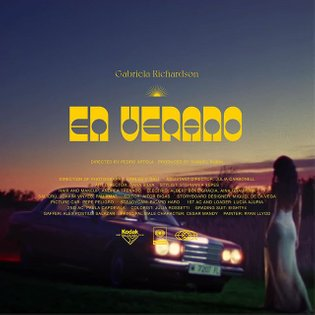I've been doing lots of credits treatment proposals in free time while staying at home. This one is for single 'En Verano' b...